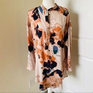 Ro&De Anthropologie Floral Tunic HiLo Dress